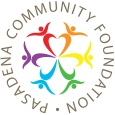 Pasadena Cimmunity Foundation Circle Logo